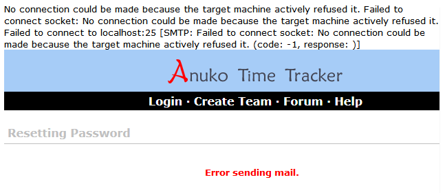 Time Tracker prints debug info on top when MAIL_SMTP_DEBUG is true