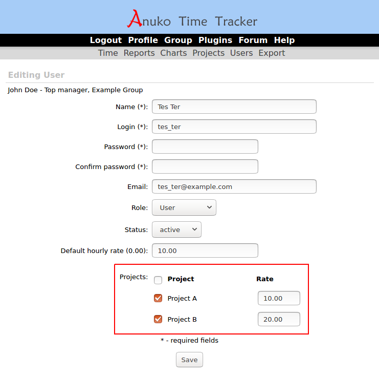 "Set up different project rates in ""Projects"" and ""Projects and tasks"" tracking modes"