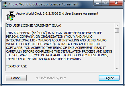 Read and agree with World Clock EULA to continue