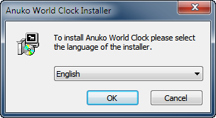 Select language for World Clock installer