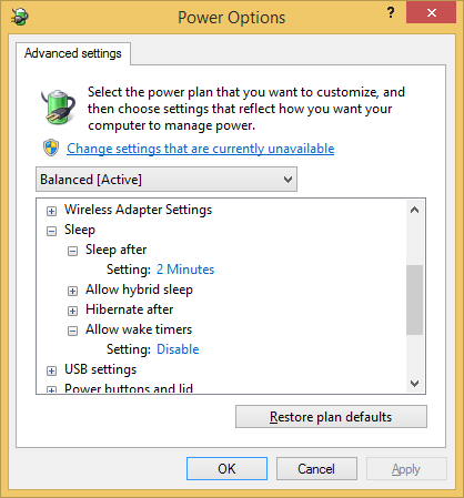 Windows 8.1 - wake timers are disabled but they still wake computer
