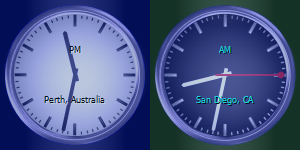 World Clock on desktop with War Room skin for San Diego clock