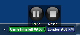Countdown timer control panel