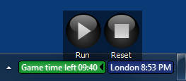 Timer control panel in a paused timer