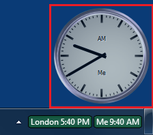 World Clock after a clean install with 3 clocks