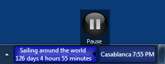 Pause button in stopwatch control panel