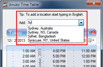 Adding Sydney to World Clock Time Table