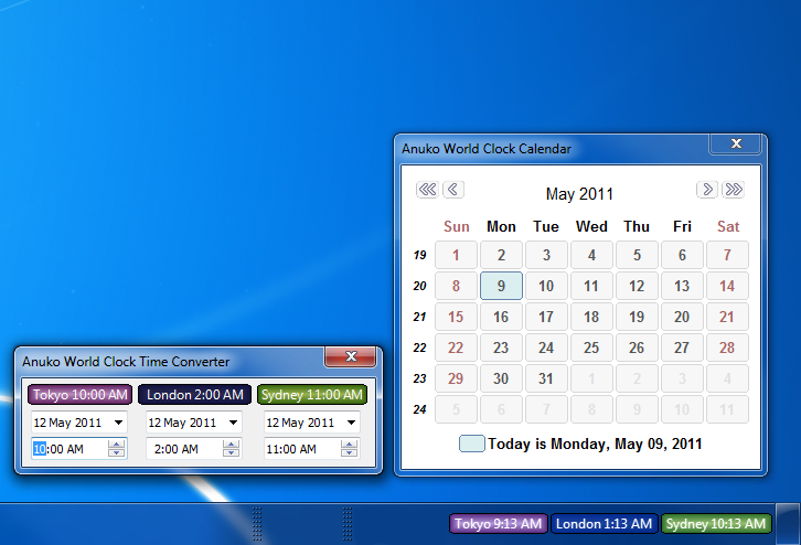 Click to view Anuko World Clock 5.8.1 screenshot